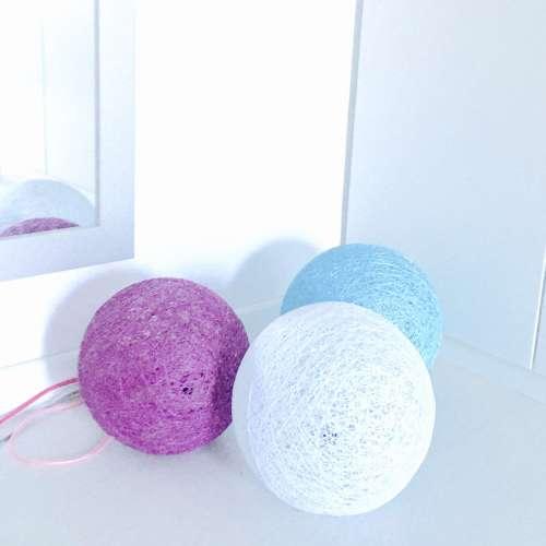 Lámparas de suelo esfera hechas a mano decorativas