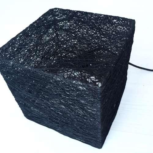 Cube lámpara de suelo cuadrada negra