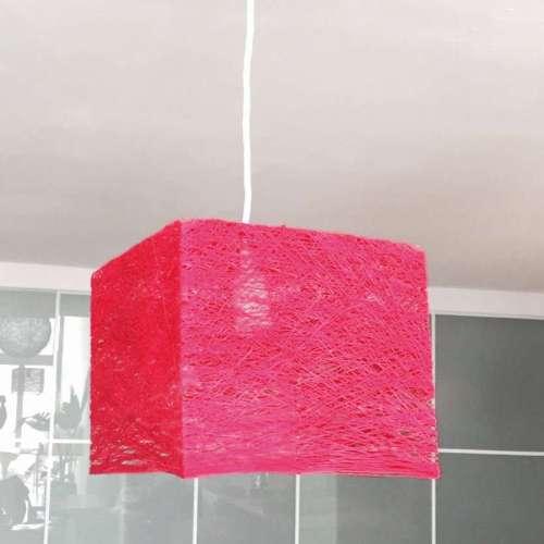 Cube lámpara de techo rosa