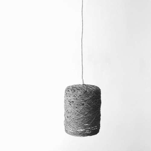 Cylinder lámpara de techo gris