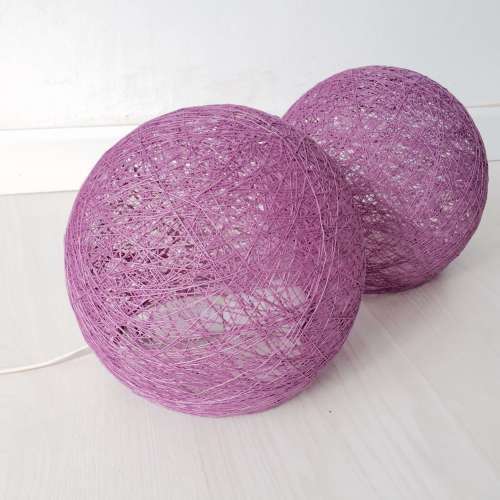 Sphere violet floor lamp