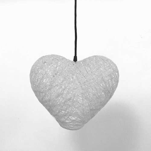 lámpara corazón gris