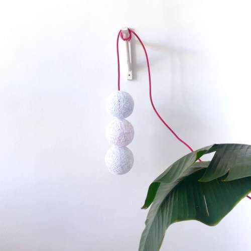 lampara de techo colgante 3 bolas hecha a mano artesanal