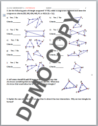 Printables. Geometry Worksheet Congruent Triangles Answers ...