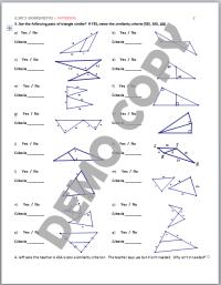 High School Geometry Common Core G.SRT.A.3 - Similarity ...