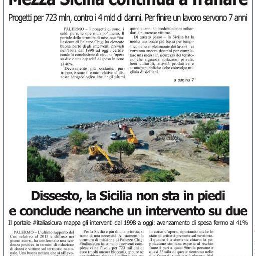 Sicilia: l'analisi sullo stato dei cantieri antiemergenza nell'isola