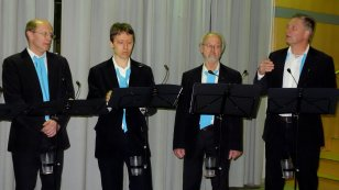 Männerquartett on stage