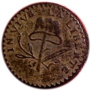 1789 French LA LIBERTE RJ SILVERSTEIN GEORGEWASHINGTONINAUGURALBUTTONS.COM O