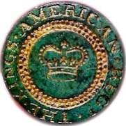 KINGS AMERICAN REG. BUTTON 25MM GILDED BRASS RJ SILVERSTEINS GEORGEWASHINGTONINAUGURALBUTTONS.COM O