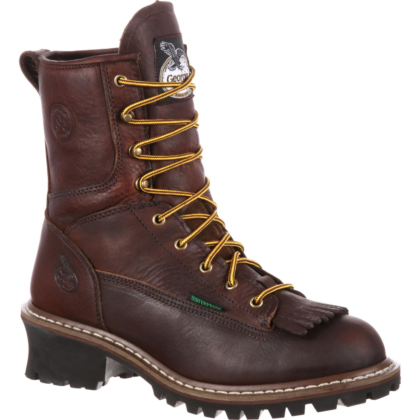 Georgia Boot Steel Toe Waterproof Logger Boots G7313