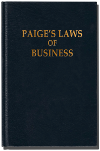 Paige's Laws of Business