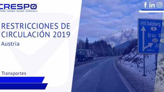 Restricciones de circulación 2019: Austria