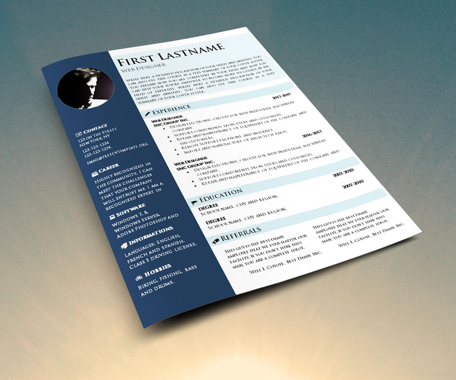 CV Template To Download And Fill In \u2022 Get A Free CV \u2022 Template