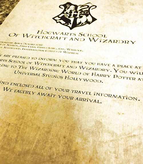Free Harry Potter Vacation Announcement Printable - hogwarts acceptance letter