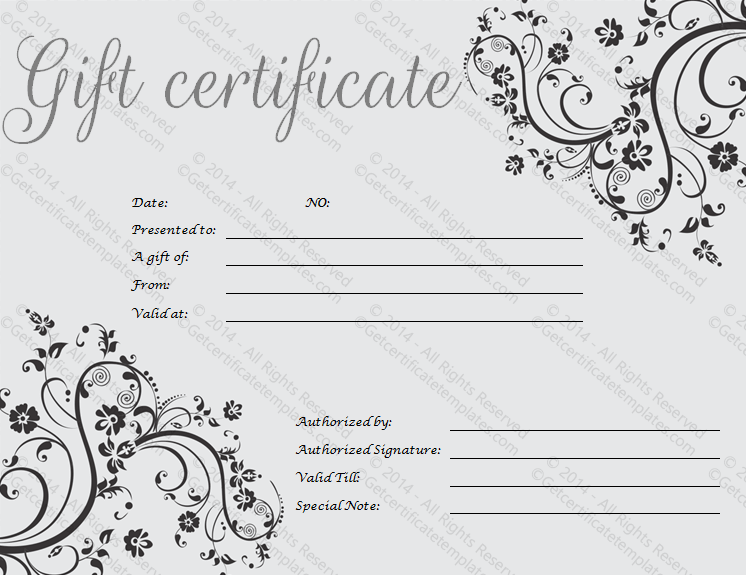 Gift Certificate Template Psd – Gift Certificate Templete
