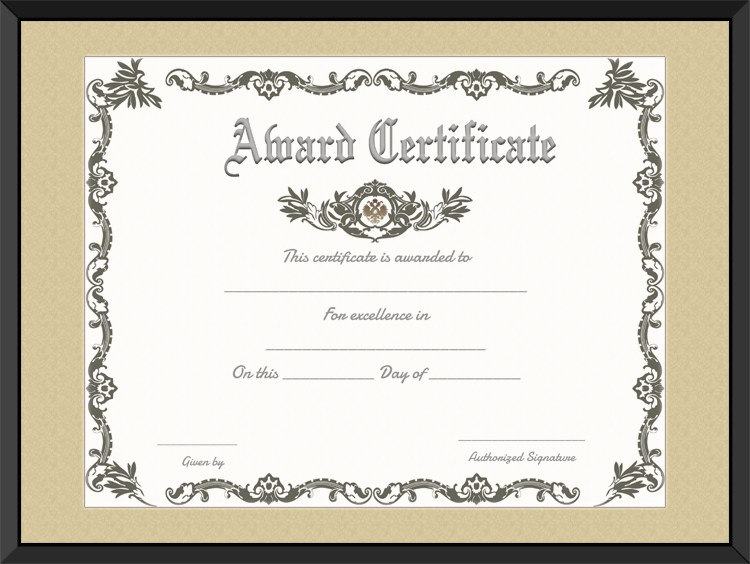 awards certificate templates