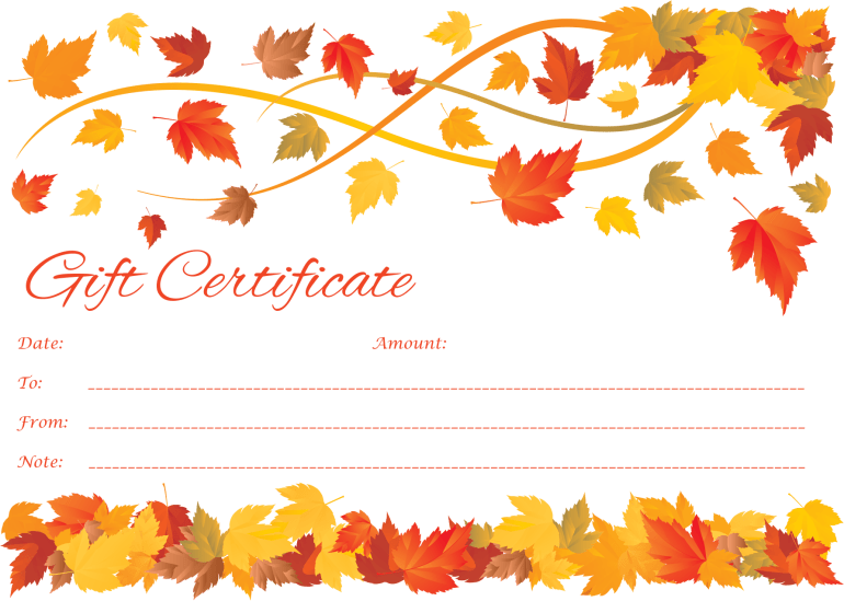 Free Customizable Gift Certificate Template – Make Gift Vouchers Online Free