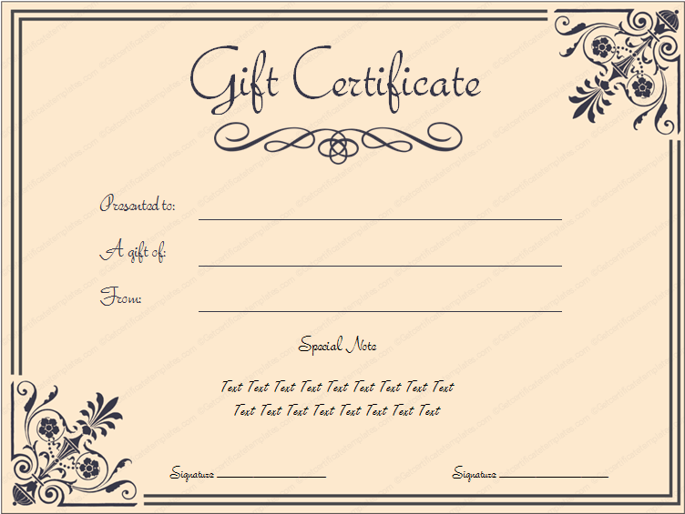 Doc750320 Gift Certificate Free Template Download 1000 ideas – Free Gift Certificate Template