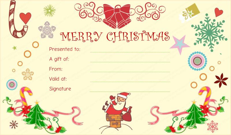 Doc516337 Gift Card Templates christmas gift card templates – Christmas Gift Card Template