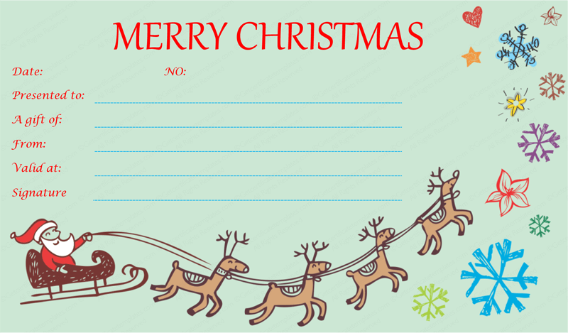 Free Printable Christmas Certificates – Printable Christmas Gift Certificates Templates Free