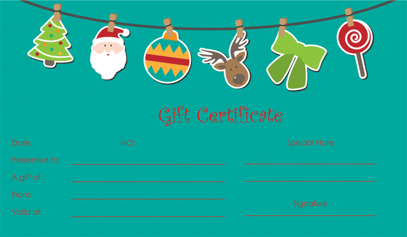 holiday gift certificate template free