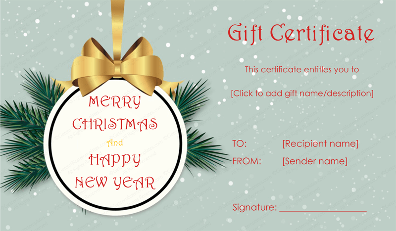 christmas gift voucher templates