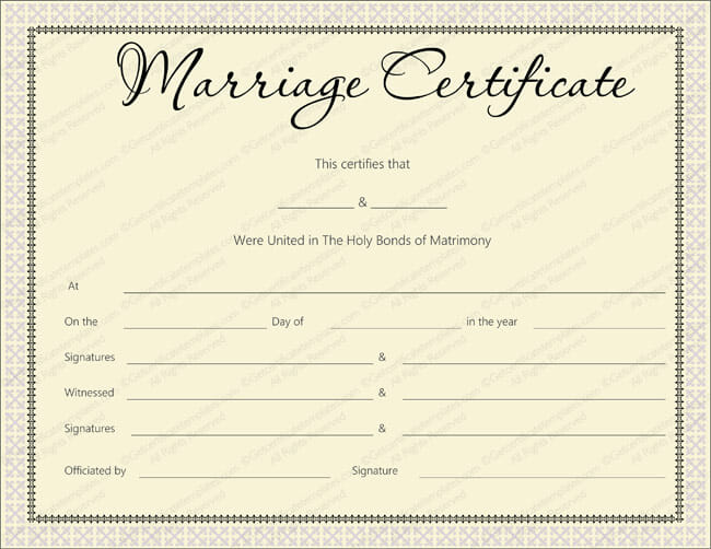 Pink Delight Marriage Certificate Design - Marriage Certificate - marriage certificate