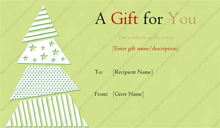 Christmas Gift Certificate Templates - Printable  Editable for Word - christmas gift certificates templates