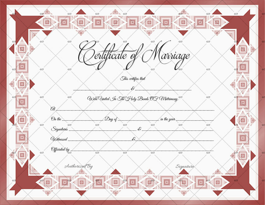 Printable Marriage Certificate Template (Word) - marriage certificate