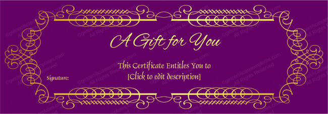 Mothers and Fathers Day Gift Certificate Templates - gift vouchers templates