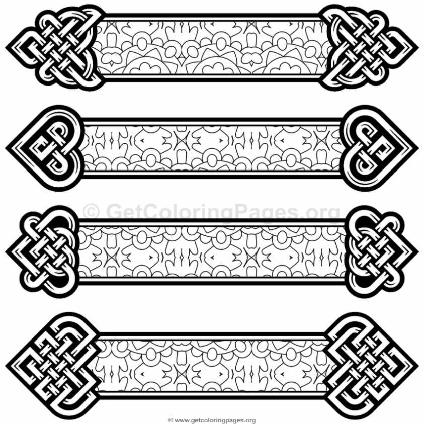 Celtic Knot Bookmarks Coloring Pages #1 \u2013 GetColoringPagesorg - bookmark coloring pages