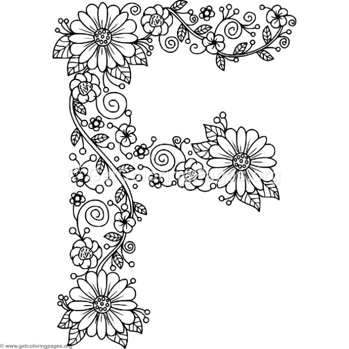 fancy alphabet coloring pages auto electrical wiring diagram Pioneer AVH Wiring-Diagram floral alphabet letter f coloring pages u2013 getcoloringpages
