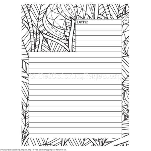 journal pages template coloring \u2013 GetColoringPagesorg