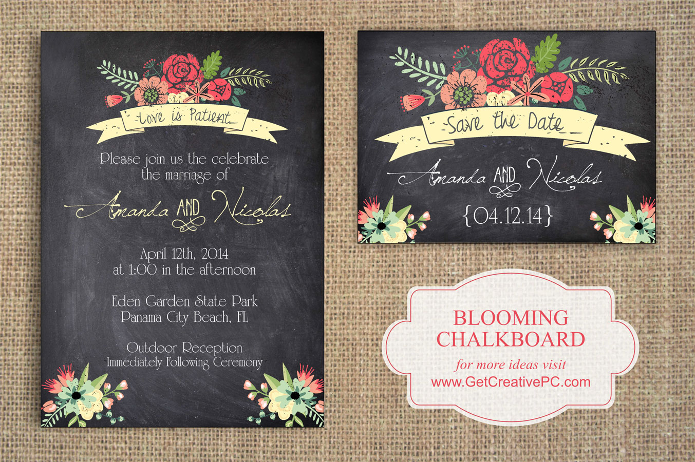 chalkboard invitations