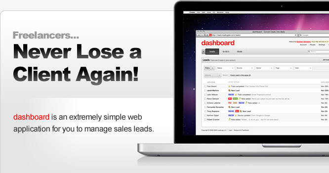 Sales Lead Management Software for freelancers - Form Builder - Lead - how to manage sales leads