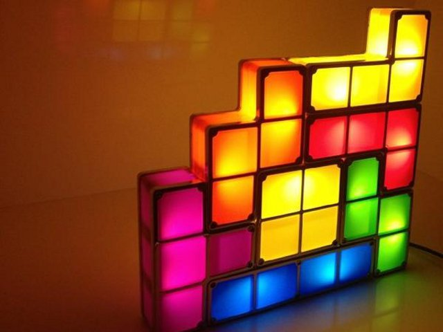 stackable tetris led desk lamp getdatgadget. Black Bedroom Furniture Sets. Home Design Ideas