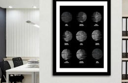 Death Star Moon Phase Print