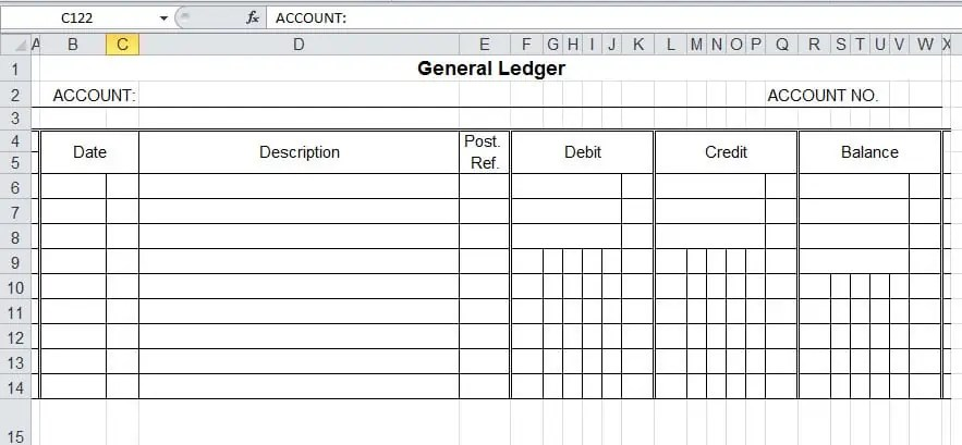 microsoft excel ledger templates - Minimfagency - gl reconciliation template