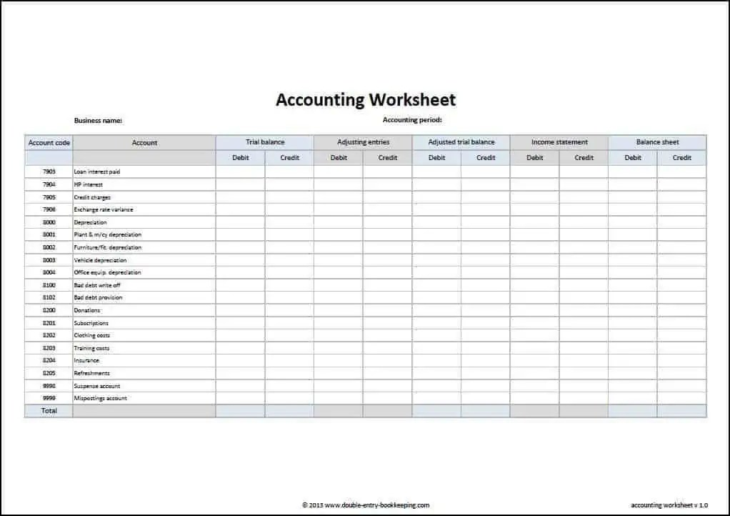 Accounting Form Forms Documents Needed For Proper Accounting