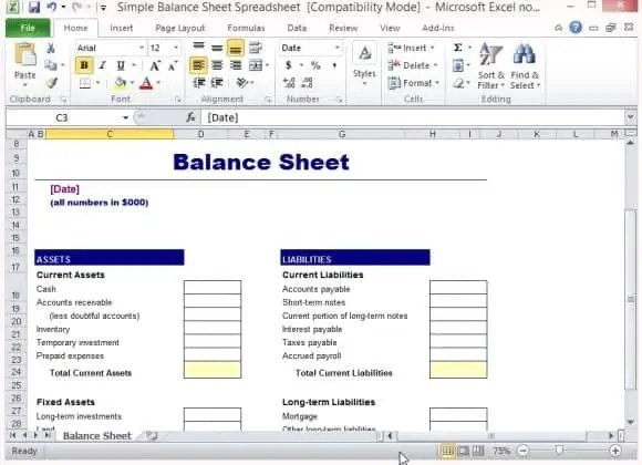 9+ Balance Sheet Formats In Excel - Excel Templates