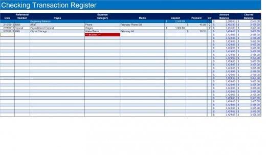 9+ Excel Checkbook Register Templates - Excel Templates
