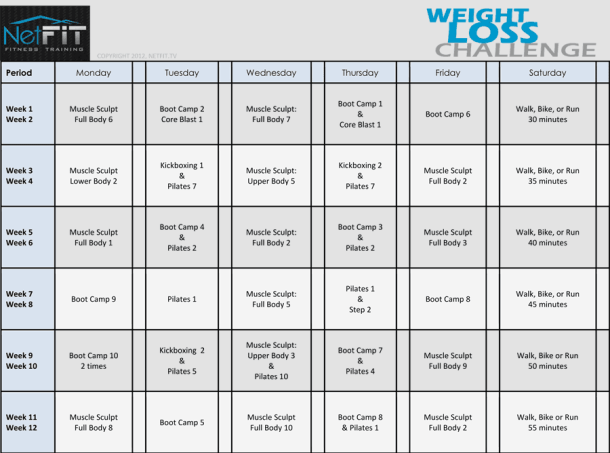 workout schedule template because pinterest schedule