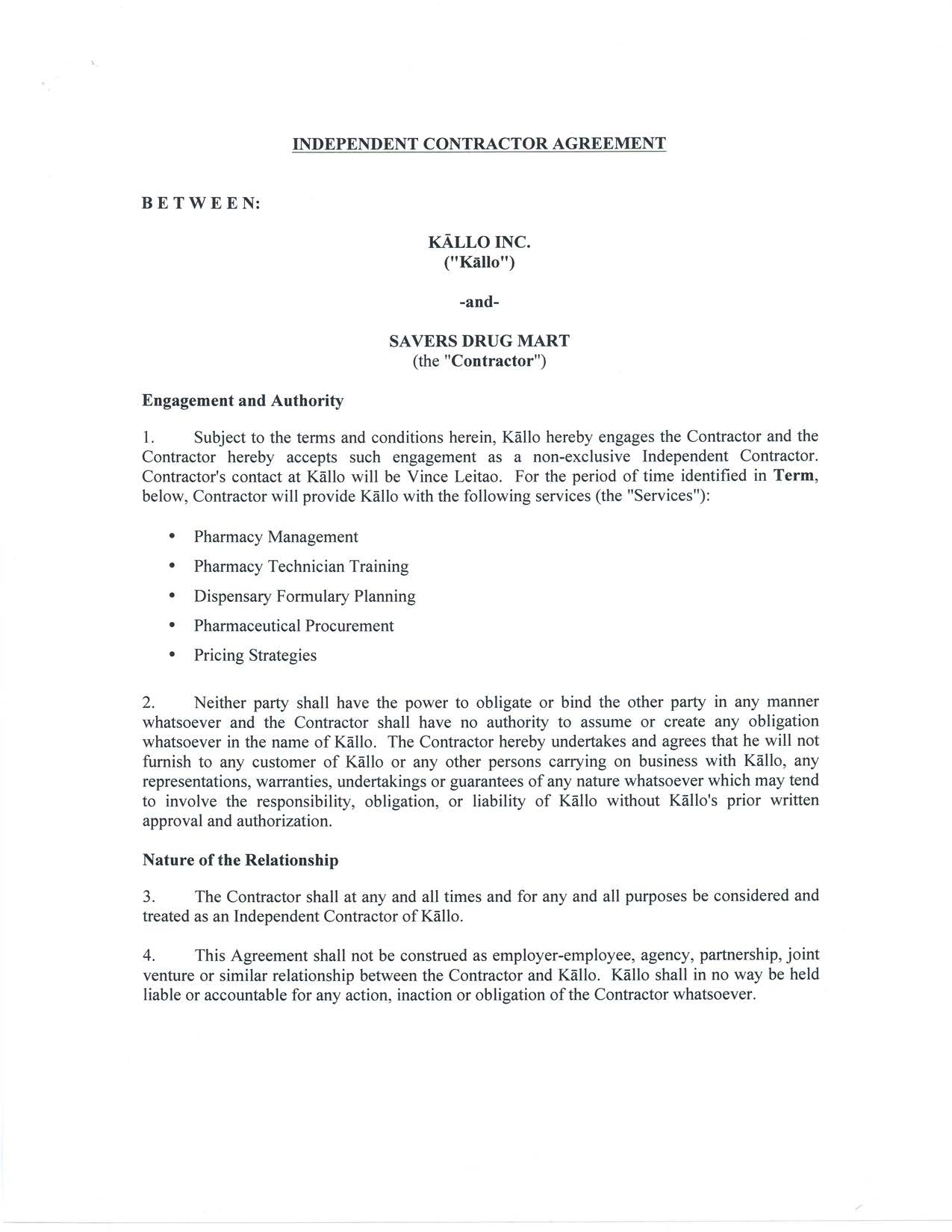 sample of independent contractor agreement form best resume sample of independent contractor agreement form