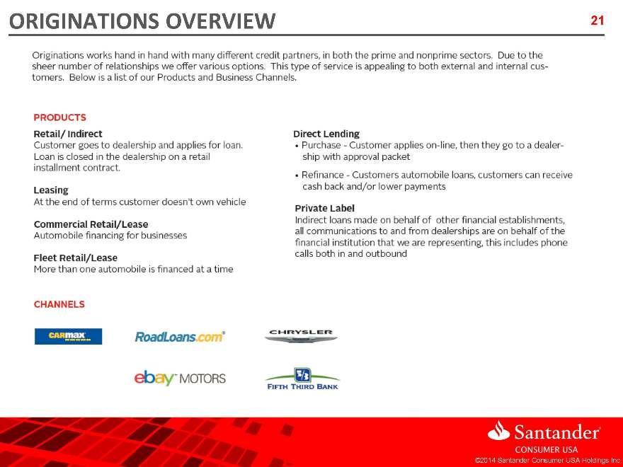 Santander Consumer USA Holdings Inc - FORM 8-K - EX-991 - May 21, 2014