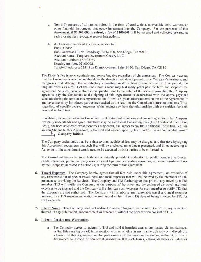 Aim Exploration Inc - FORM 10-Q - EX-101 - CONSULTING AGREEMENT - consulting agreement form