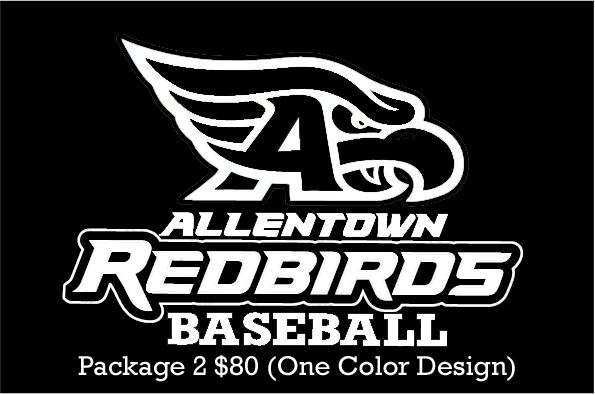 AHS Baseball Team Package 2 - $80 ONE COLOR DESIGN