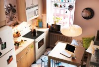 Kitchen Design Ideas 2012 by IKEA Brown Wall Small Space ...
