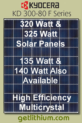 Kyocera Solar high efficiency Solar Energy Panels Kyocera Solar KD