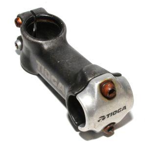 tioga-handlebar-stem-2-bolt-black-silver-1-1-8-25-4mm-85mm-bike-alloy-261878445408