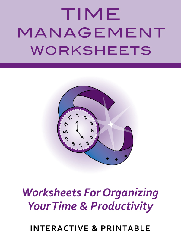 Time Management Worksheets Productivity Planners  To Do Lists